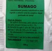 Sumago 100g - accentueaza culoarea verde la conifere